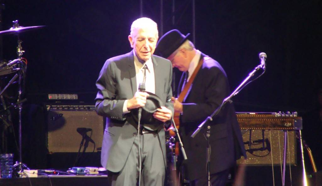 Leonard Cohen Coachella photo