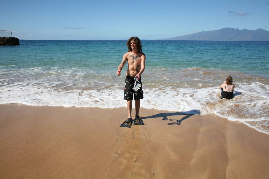 Mickey Avalon on the beach photo