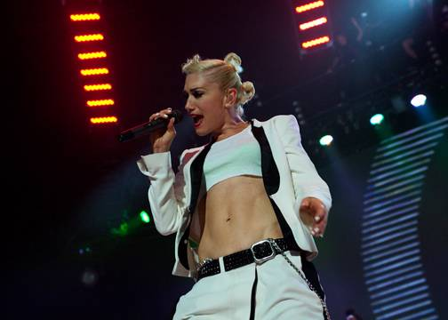 Gwen Stefani with No Doubt at GM Place, Vancouver.