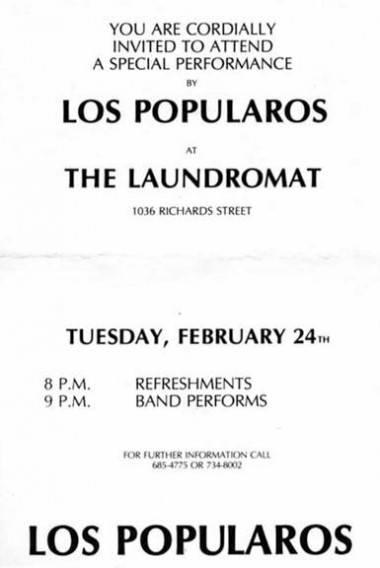 Los Popularos gig poster