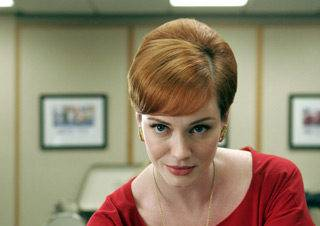 Christina Hendricks as Joan Holloway on AMC's Mad Men