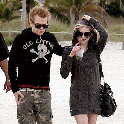 Deryck Whibley and Avril Lavigne in happier times.