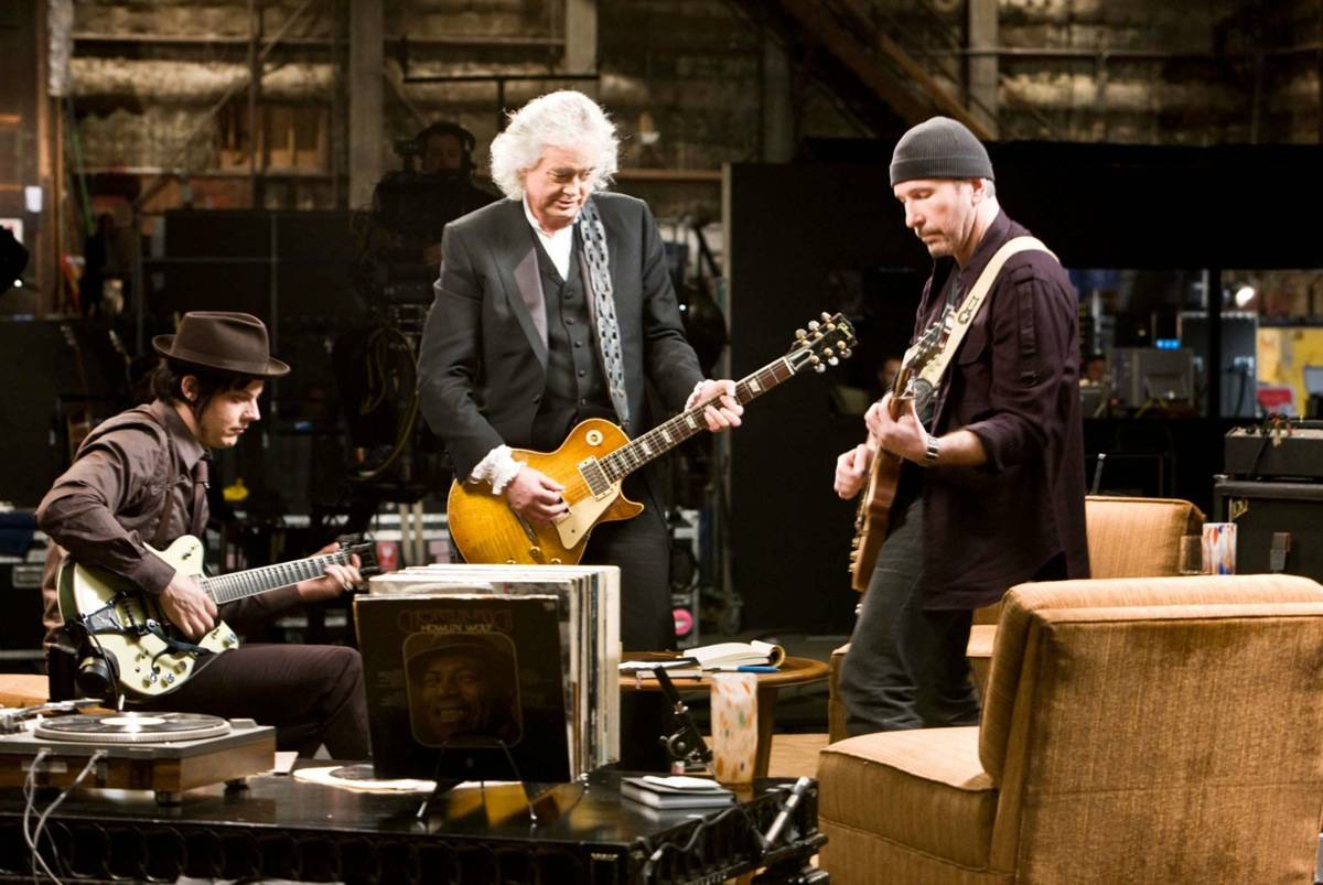 Jack White, Jimmy Page, the Edge in It Might Get Loud.