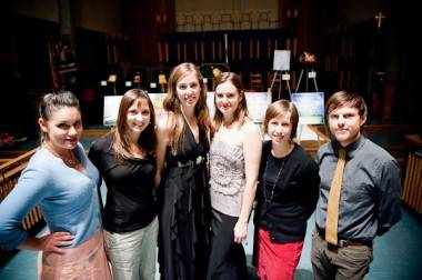Ailsa Dyson, Dallas Ludwick, Sara Hahn, Olivia Ritchey, Grabrielle Touchette and Duncan McNairnay group photo