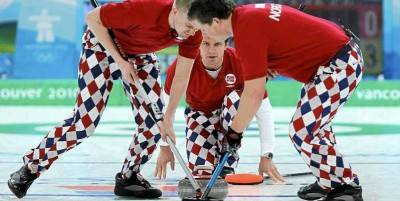 Norwegian men's curling pants. Photo - Lyle Stafford