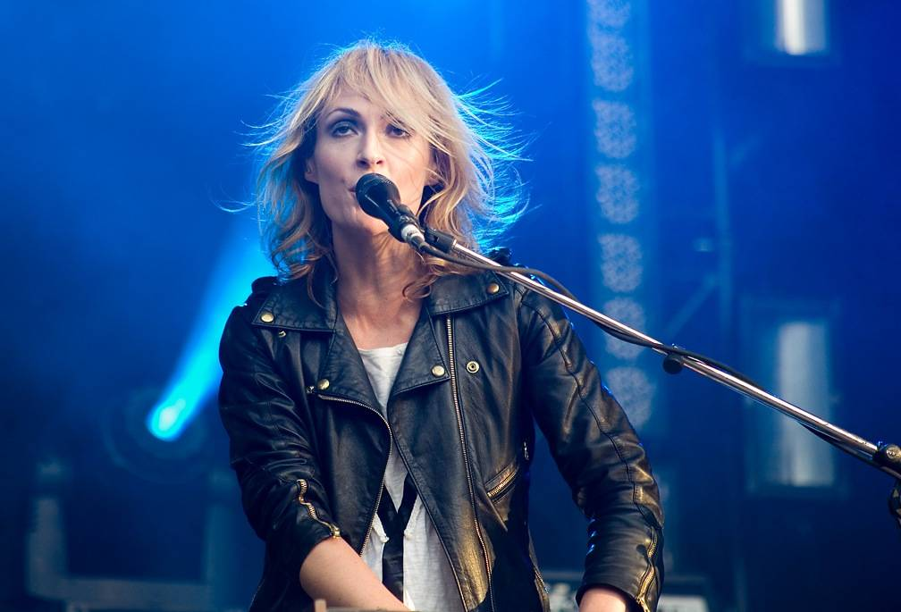 Emily Haines with Metric at Malkin Bowl, Vancouver, 2010. Jason Statler photo