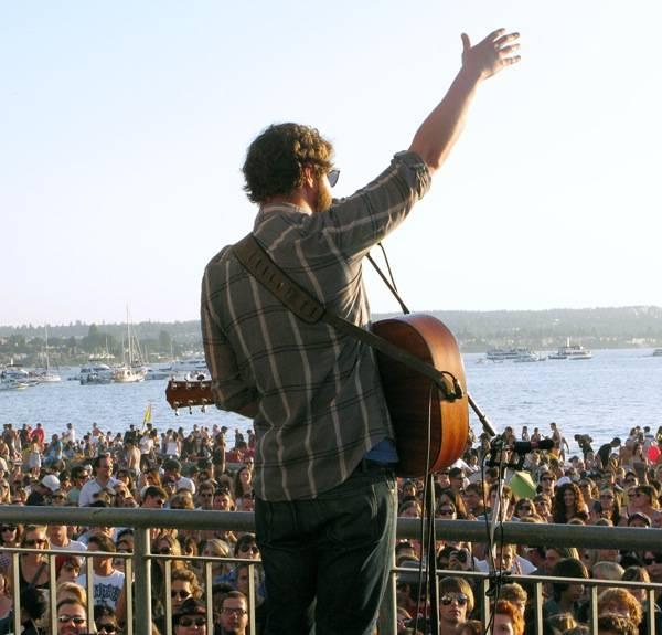 Dan Mangan at English Bay, July 28 2010. Ashley Tanasiychuk photo