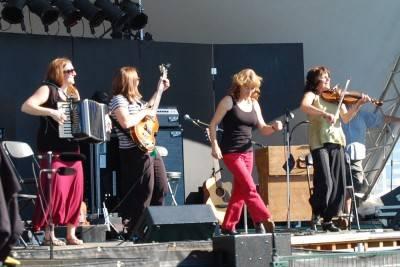 Gadelle at the Vancouver Folk Music Festival, July 16 2010. Megan Chursinoff photo