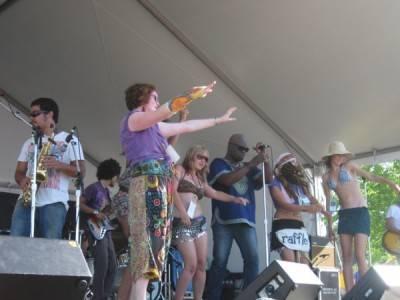 Sarazino at the Vancouver Folk Music Festival, July 18 2010. Ria Nevada photo
