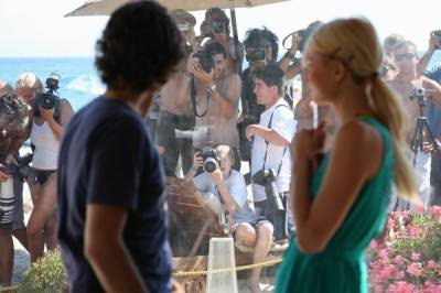 Adrian Grenier and Paris Hilton in Teenage Paparazzo.