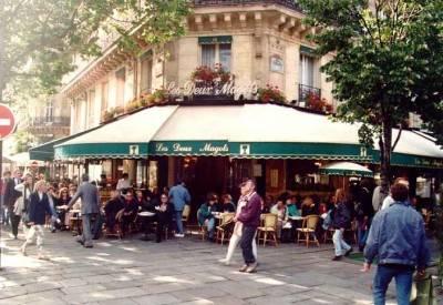 Les deux magots, Paris, France. It ain't Starbucks!