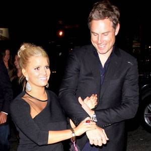 Jessica Simpson and that Nick guy in happier times. What is she famous for again?