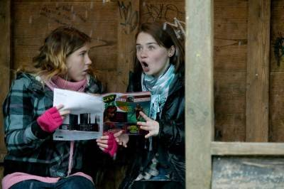 Charlotte Christie and Jessica Barden in Tamara Drewe.