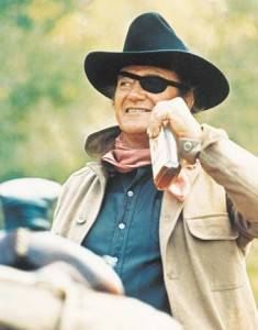 John Wayne in the 1969 version of True Grit.