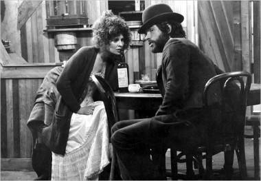 Julie Christie and Warren Beattie in McCabe & Mrs. Miller (1971).