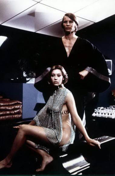 Jenny Agutter with Michael York in a publicity photo for Logan's Run (1976).