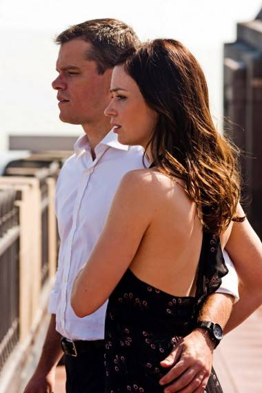 Matt Damon and Emily Blunt in The Adjustment Bureau.
