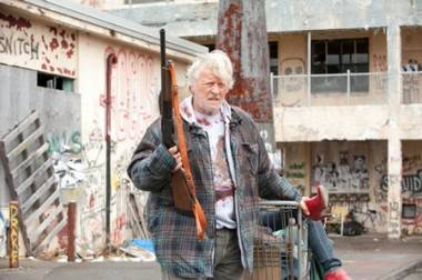 Rutger Hauer in Hobo With a Shotgun (2011).