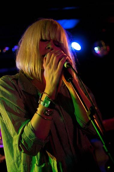 Lisa Milberg with The Concretes at the Biltmore Cabaret, Vancouver, March 1 2011. Ashley Tanasiychuk photo