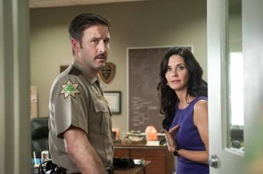 David Arquette and Courtney Cox in Scream 4
