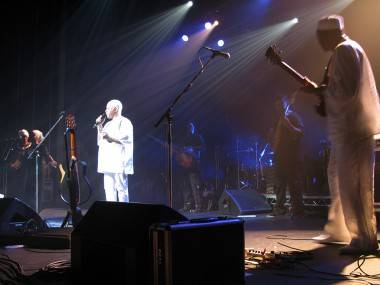 Salif Keita at the Vogue Theatre, Vancouver, April 2 2011. Rebecca Apostoli photo