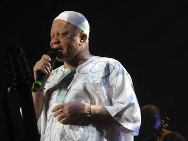 Salif Keita at the Vogue Theatre, Vancouver, March 31 2011. Rebecca Apostoli photo