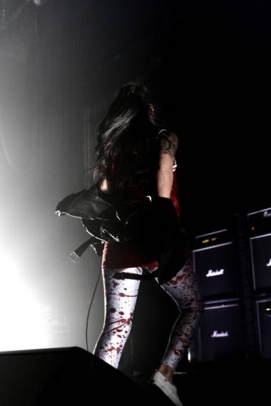 Alexis Krauss with Sleigh Bells at the Vogue Theatre, May 25 2011. Anja Weber photo