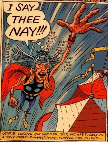 Tony Milionaire art in Strange Tales II (Marvel Comics).