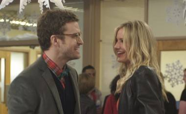 Justin Timberlake and Cameron Diaz in Bad Teacher.