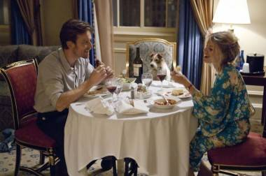 Ewan McGregor, Cosmo and Melanie Laurent in Beginners (2011).