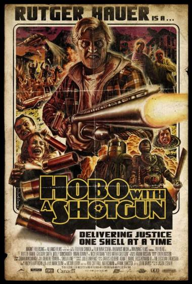 Hobo With a Shotgun movie poster by Tom Hodge.