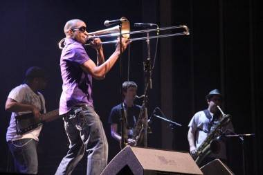 Trombone Shorty and Orleans Avenue at the Vogue Theatre, Vancouver, May 27 2011. Robyn Hanson photo