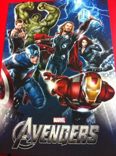 Promo image from the Marvel Comics movie of The Avengers.
