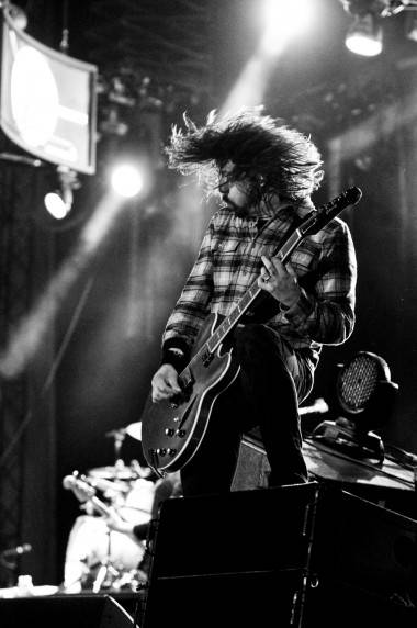 Dave Grohl with the Foo Fighters at Sasquatch, May 27 2011. Jade Dempsey photo
