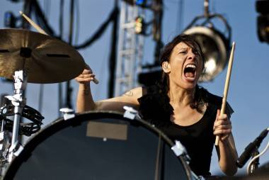 Kim of Matt & Kim at Sasquatch! May 28 2011. Jade Dempsey photo