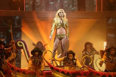 Britney Spears at Rogers Arena, Vancouver, July 1 2011. Ryan West photo