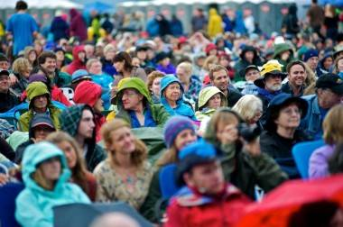 Audiences braving the weather at the Vancouver Folk Music Festival July 15 2011. Christopher Edmonstone photo
