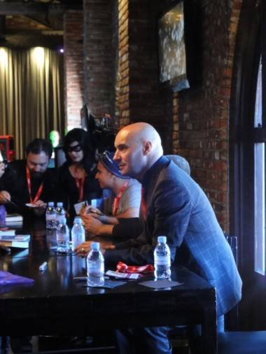 Grant Morrison at a book signing at the Hard Rock Cafe, San Diego, July 23 2011.