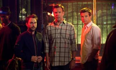 Charlie Day, Jason Sudeikis and Jason Bateman in Horrible Bosses (2011).