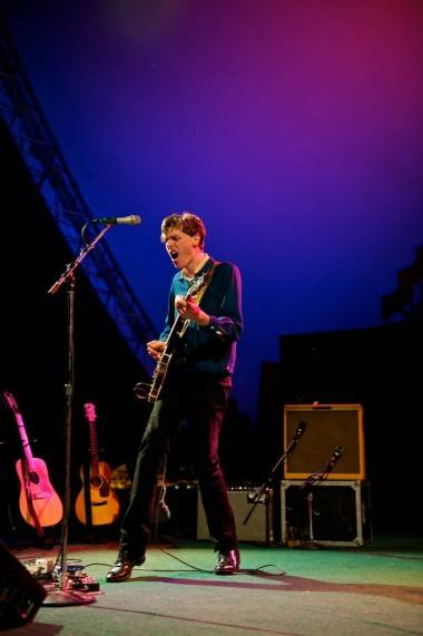 Joel Plaskett with The Emergency at the Vancouver Folk Music Festival July 15 2011. Christopher Edmonstone photo
