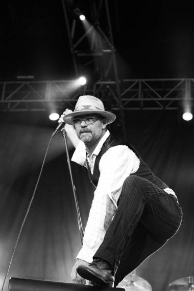 Gord Downie with the Tragically Hip at Shaw Park, Winnipeg, July 7 2011. Stephanie Willer photo