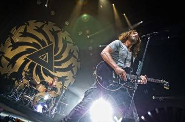 Chris Cornell with Soundgarden at Rogers Arena, July 29 2011. Matt Neumann photo