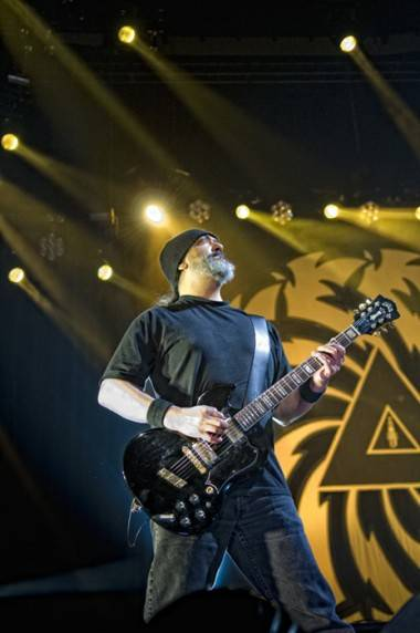 Kim Thayil with Soundgarden at Rogers Arena, July 29 2011. Matt Neumann photo