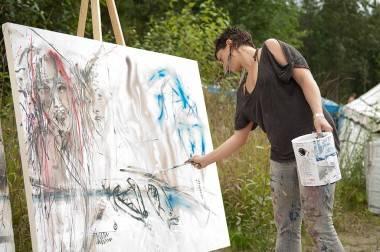 Bass Coast painting 2011