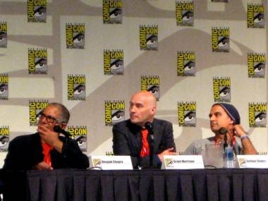 Deepak Chopra and Grant Morrison at SDCC 2011