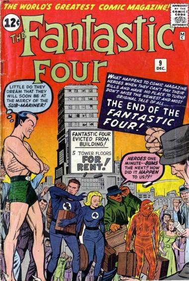Fantastic Four # 9 cover (Dec 1962).