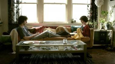 Hamish Linklater and Miranda July in The Future