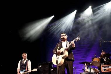 The Decemberists at Malkin Bowl, Vancouver, Aug 23 2011. Anja Weber photo