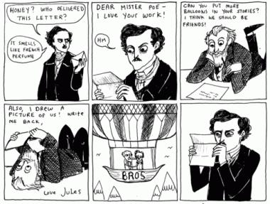 Kate Beaton comic strip featuring Edgar Allen Poe