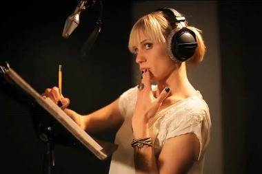 Katie Sackhoff doing the voice of Black Cat for Spider-Man video game Edge of Time.
